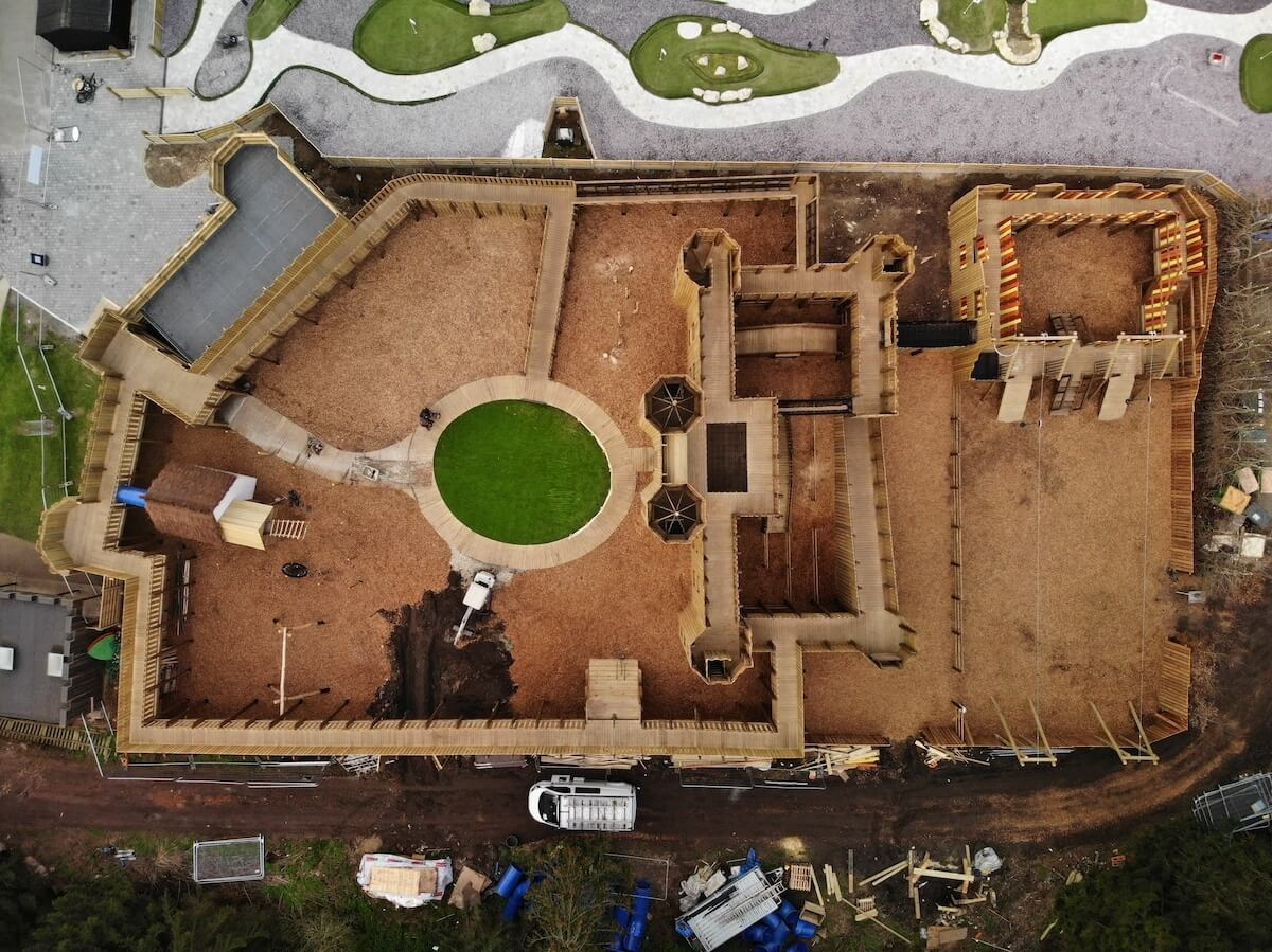 Drone footage of the Knights Stronghold at Leeds Castle in build 5