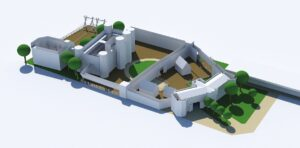 Early 3D white models Knights Stronghold Leeds Castle