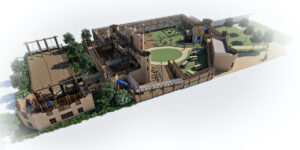 Leeds Castle Knights Stronghold 3D renders 1