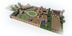 Leeds Castle Knights Stronghold 3D renders 2