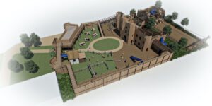 Leeds Castle Knights Stronghold 3D renders 3