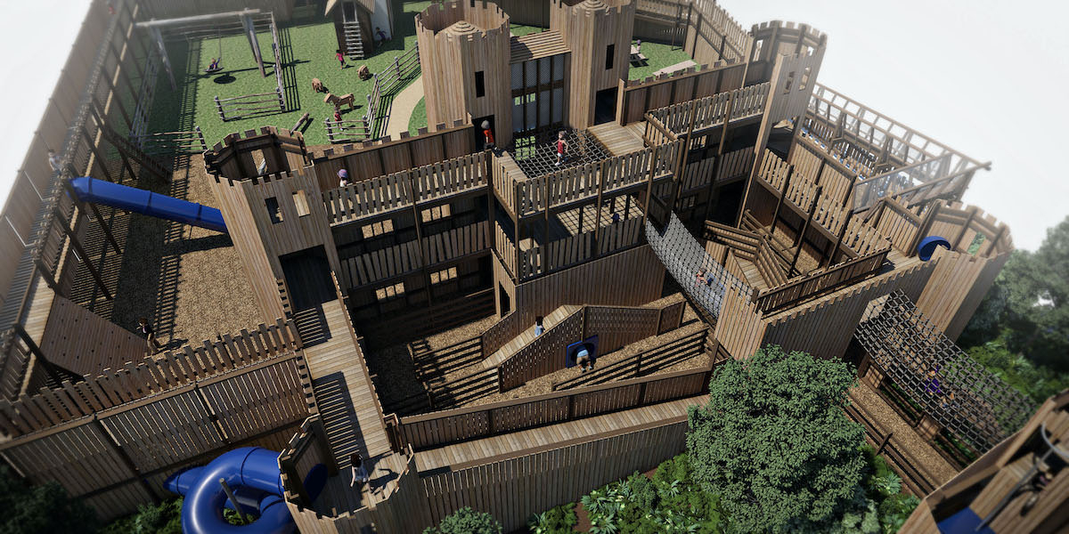 Leeds Castle Knights Stronghold 3D renders 5