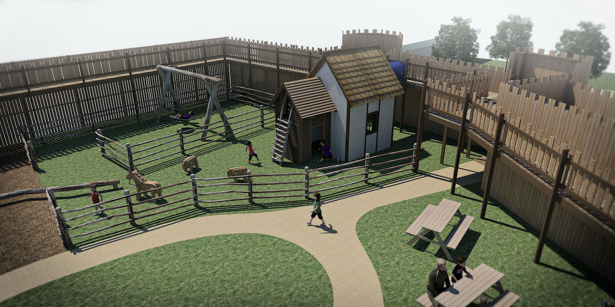 Leeds Castle Knights Stronghold 3D renders 6