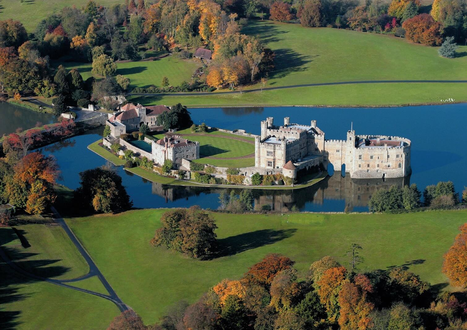 Leeds Castle from above