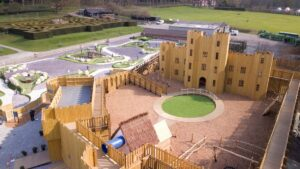 Overview of the finished Knights Stronghold at Leeds Castle Open by CAP.Co Adventure Play 1