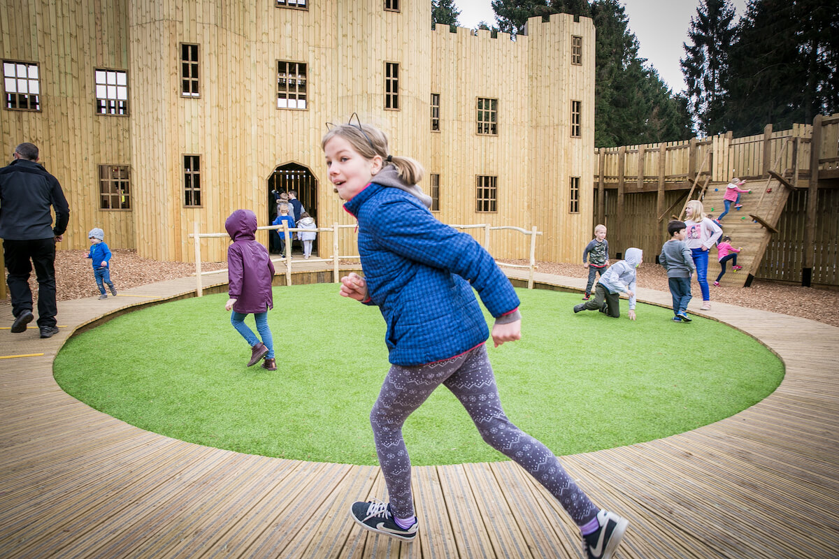 Play and run wild inside Knights Stronghold at Leeds Castle Open by CAP.Co Adventure Play