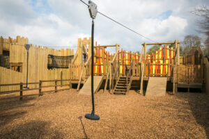 Speedy zipwires at Knights Stronghold at Leeds Castle Open by CAP.Co Adventure Play
