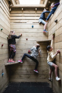 12 When a group get to climb the wall, its a brilliant experience together