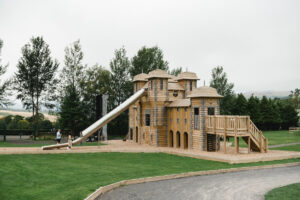18 The adventure play build has been beautifully integrated into the surroundings at Crieff Hydro by CAP.Co