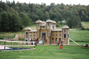 24 Have you ever seen a nicer backdrop for an adventure play park than this at Crieff Hydro