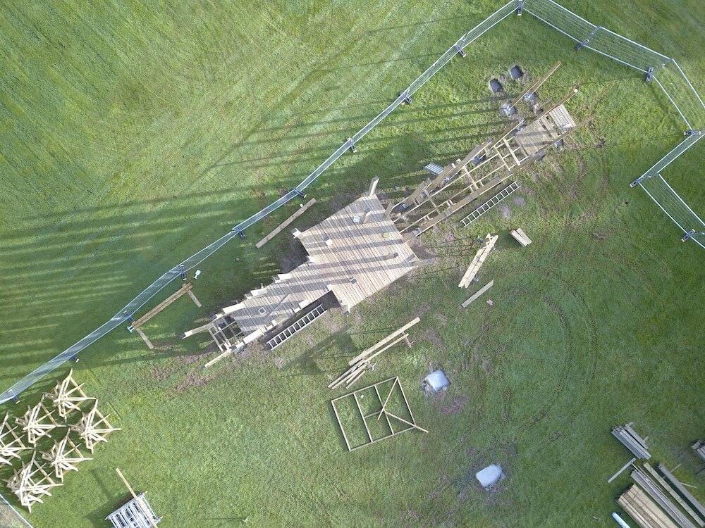4 Crieff Hydro Adventure play in build aerial shot progress