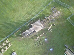 4 Crieff Hydro Adventure play in build aerial shot progress