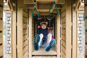 6 Swinging underneath the Crieff Hydro Adventure Play by CAP.Co