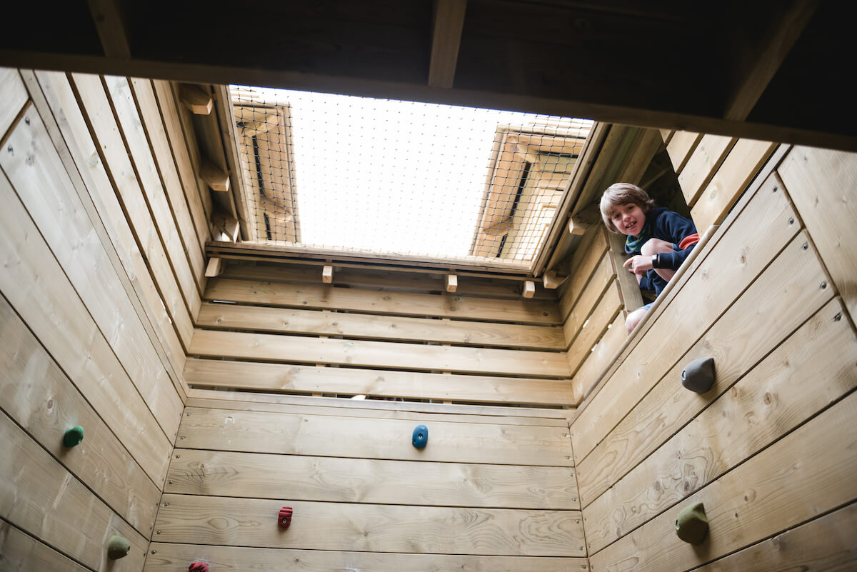 7 A series of internal climbing walls make up part of the Adventure Glen play at Crieff Hydro