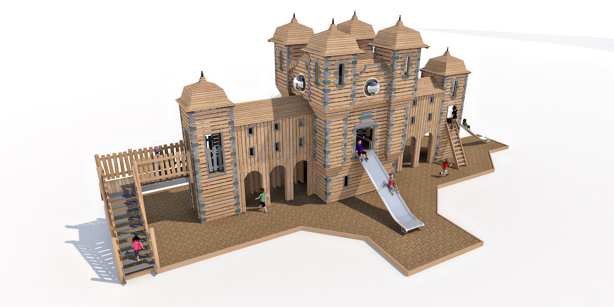 Detailed model showing build materials and finishes for Glens Adventure Park at Crieff Hydro by CAP.Co 3