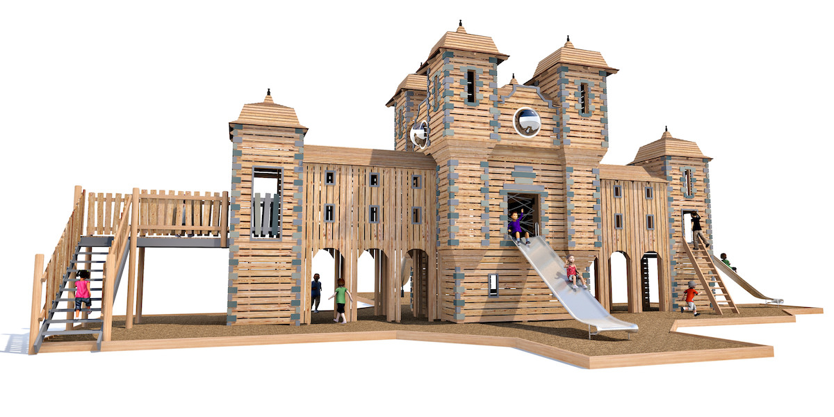 Detailed model showing build materials and finishes for Glens Adventure Park at Crieff Hydro by CAP.Co