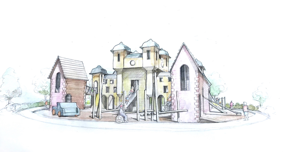 Initial Sketch of the Glens Adventure Park at Crieff Hydro by CAP.Co