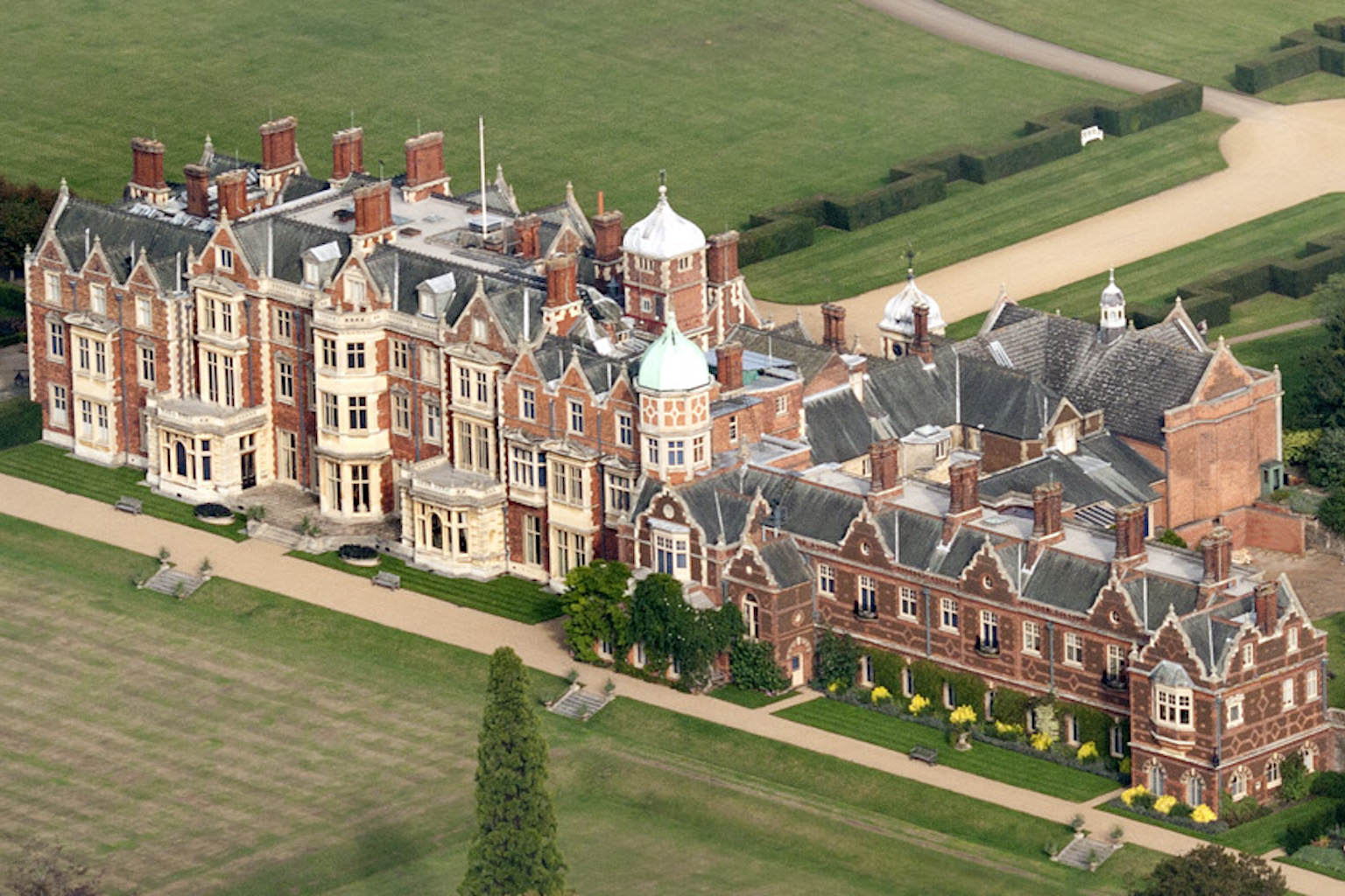 Sandringham House from the Air with adventure play by CAP.Co