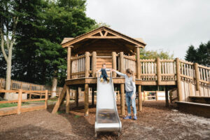 Enjoy the slides together that have been designed for toddlers