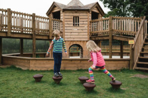 balance stones within the Dalkeith Toddler Play area