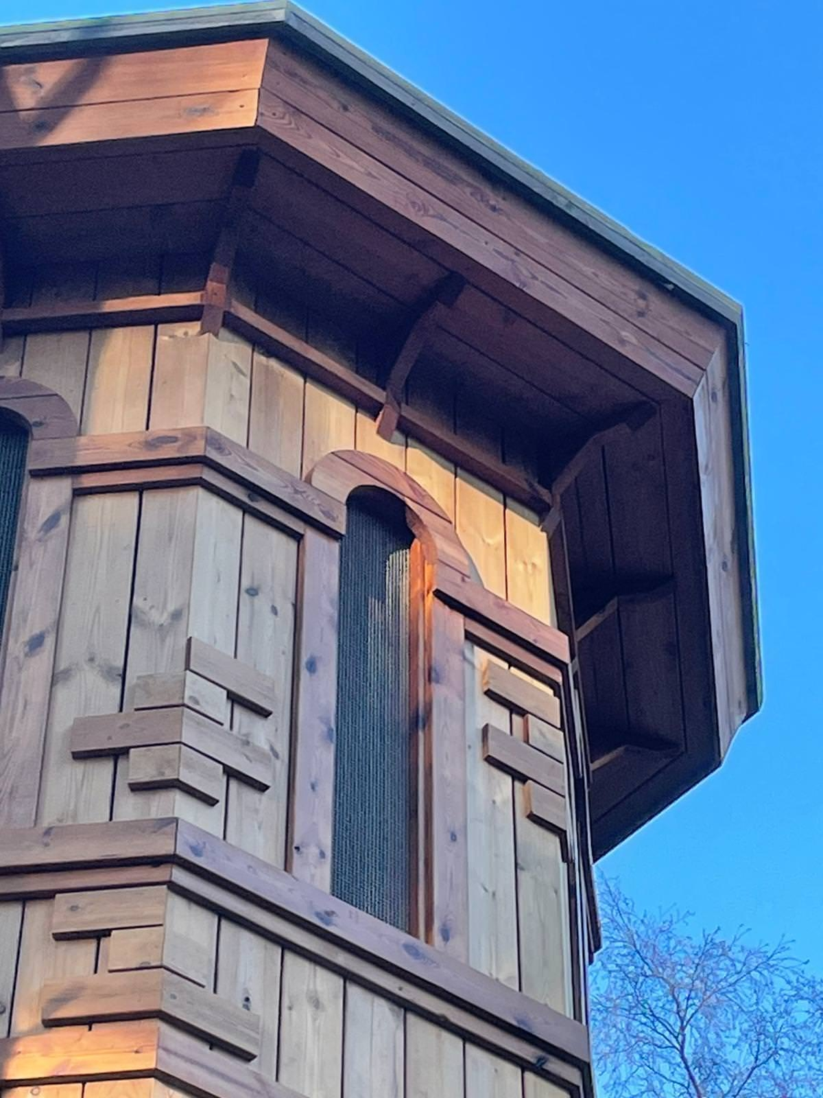 The new adventure play area at Sandringham by CAP.Co Water tower roof detail