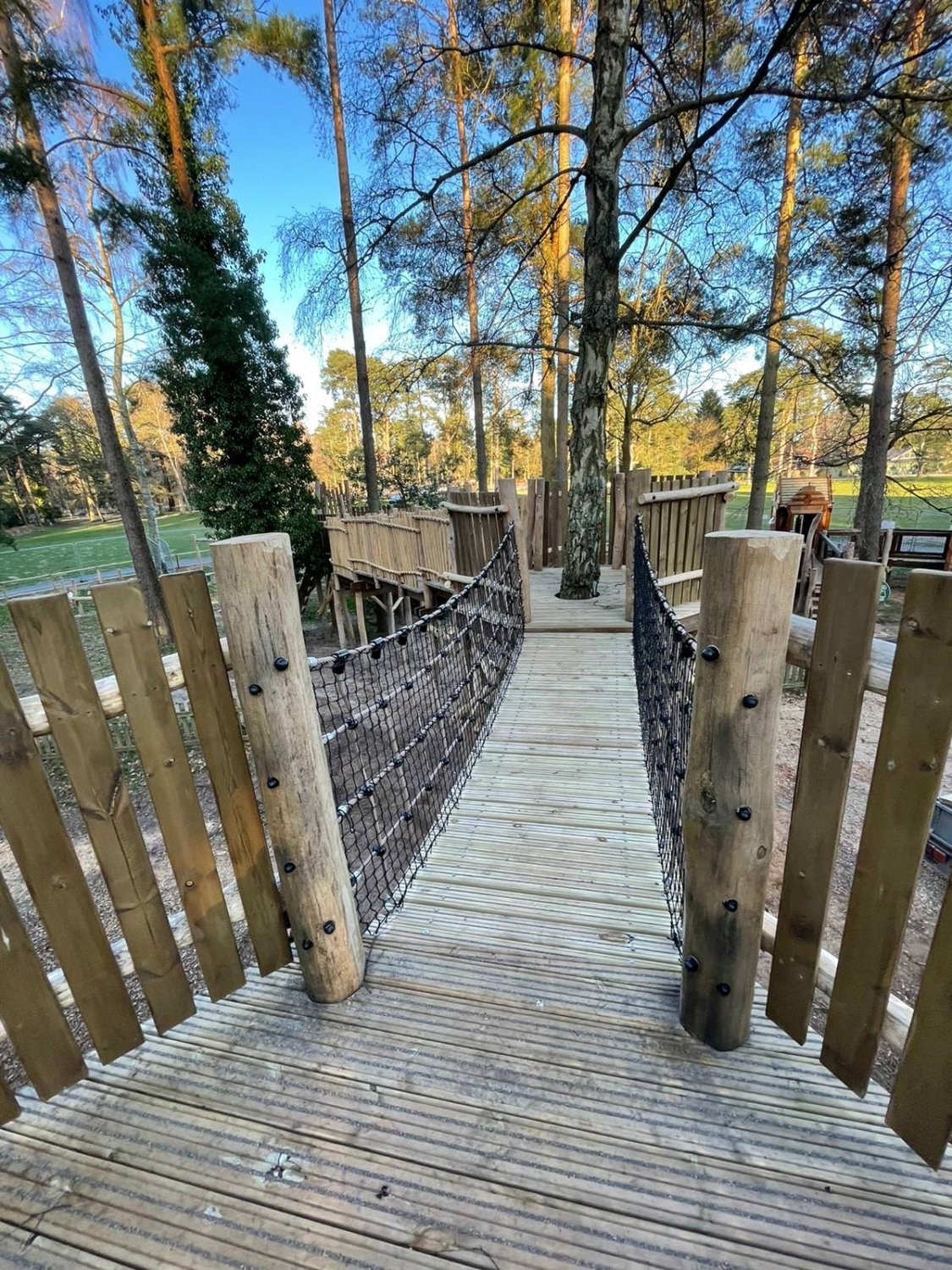 The new adventure play area at Sandringham by CAP.Co across one of the walkways