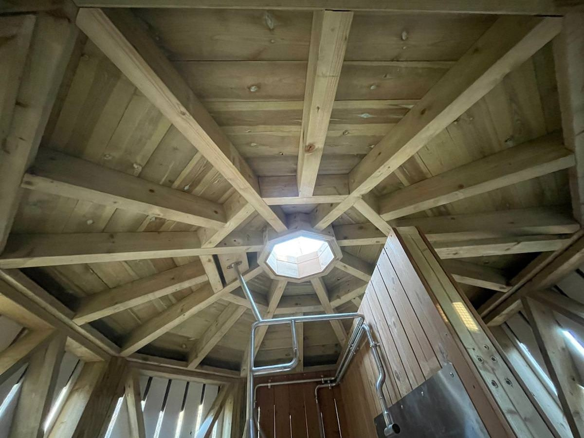 The new adventure play area at Sandringham by CAP.Co internal roof details