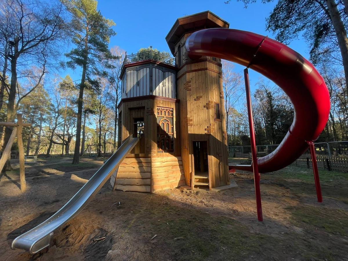 The new adventure play area at Sandringham by CAP.Co more water tower slide shots