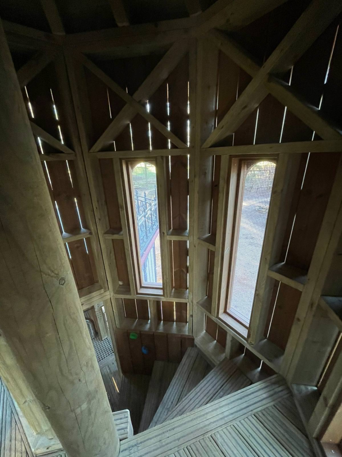 The new adventure play area at Sandringham by CAP.Co stairway and window detail