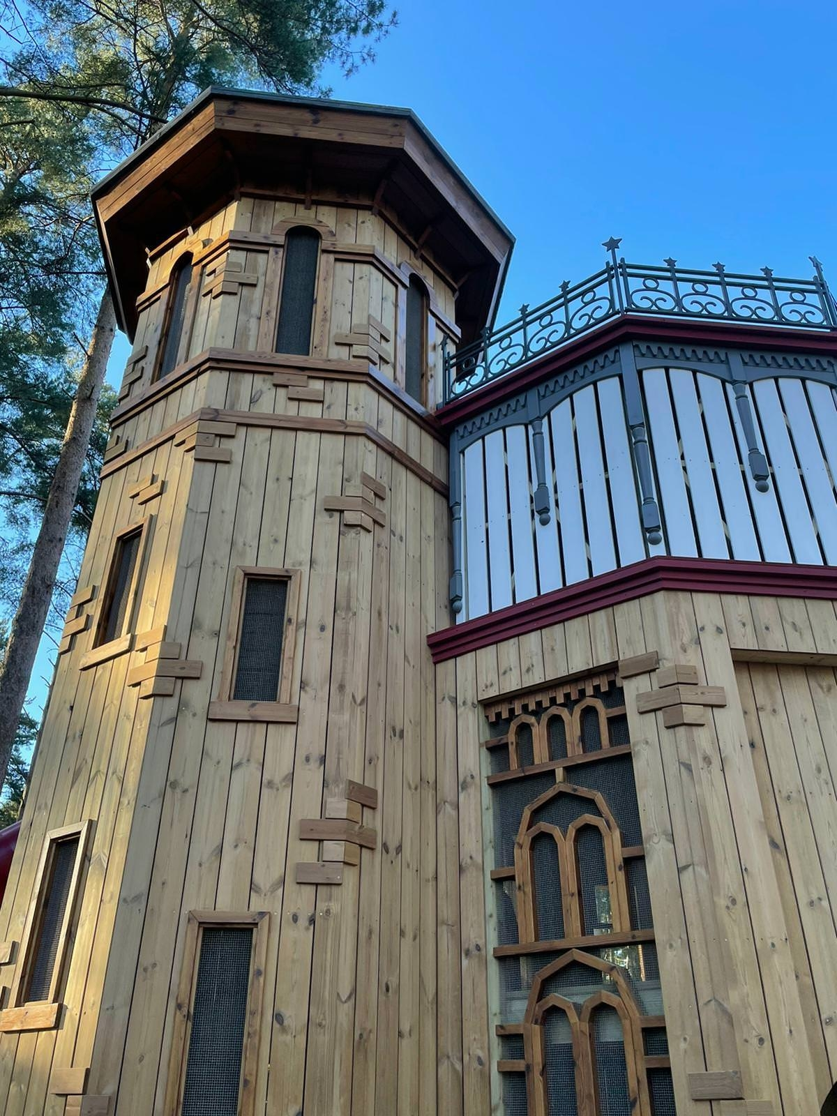 The new adventure play area at Sandringham by CAP.Co water tower details