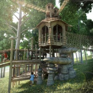 Bringing the Stonor Park Play to life with CGI of Tumblestone Hollow 6