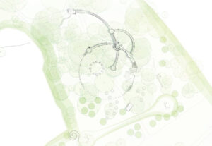 First concept of the circular theme carrying into the play