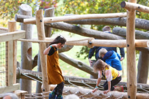 There is still some simple play that kids still love to explore together at Tumblestone Hollow