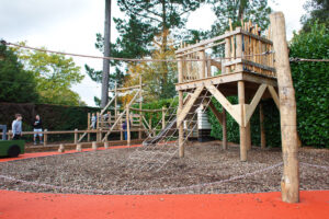 Behind the hedge youll find another great play structure at Little Beaulieu