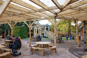 Little Beaulieu covered seating area