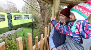 Wave to the monorail as it passes the Little Beaulieu adventure play