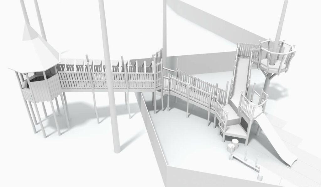 Alternative CGI Model of adventure play at Eccles School by CAP.Co Creating Adventurous places