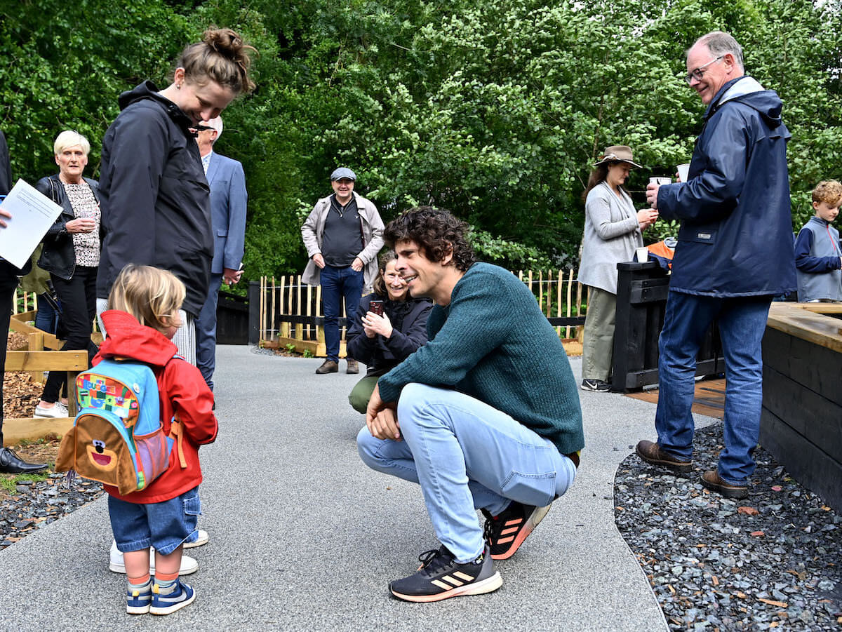 Young Milo meets his hero Andy Day AKA Andy The Adventurer from CBeebies